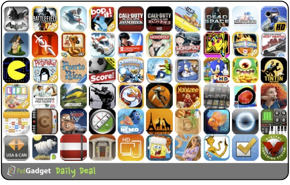 PadGadget Daily App Deal - 60 iPad Apps on Sale